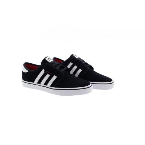 Détails sur Adidas Seeley Noir Homme Baskets Skateboard Chaussures