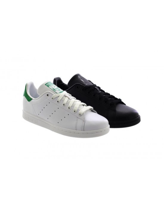 Mens Adidas Originals Stan Smith Trainers Black White