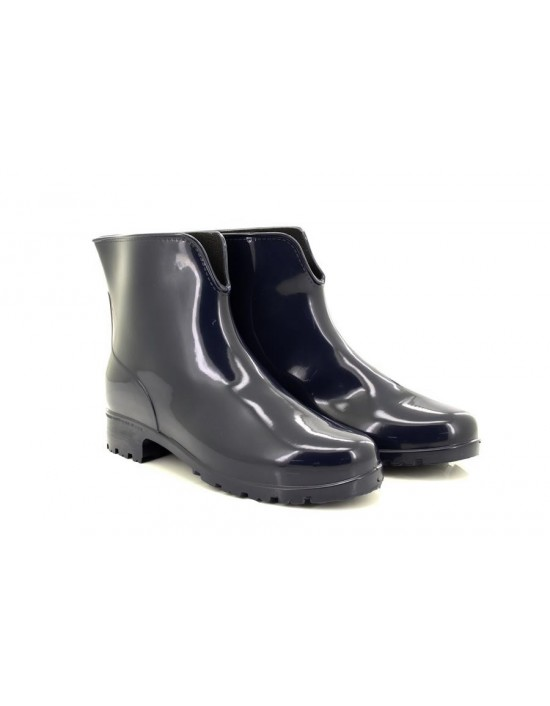 Ladies StormWells Navy Wellington Ankle Boots