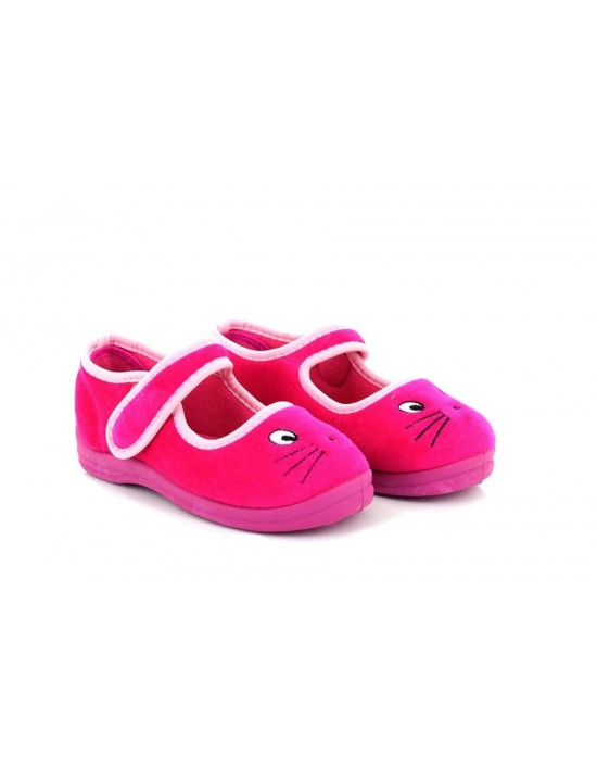 Girls Sleepers EMMA Slippers Pussy Cat Touch Bar Slipper