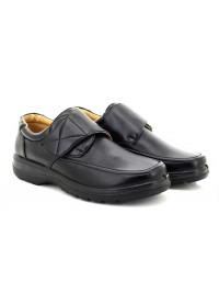 Mens Scimitar Black LIGHTWEIGHT Touch Fastening Casual Shoes