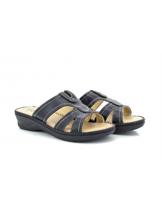 Envy Maria Diamante Slip On Extra Padded Wedge Sandals