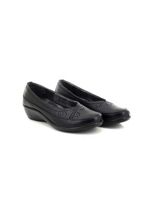Comfort Plus Micha Ladies Lightweight Slip On Wedge Wide Fitting Shoes
