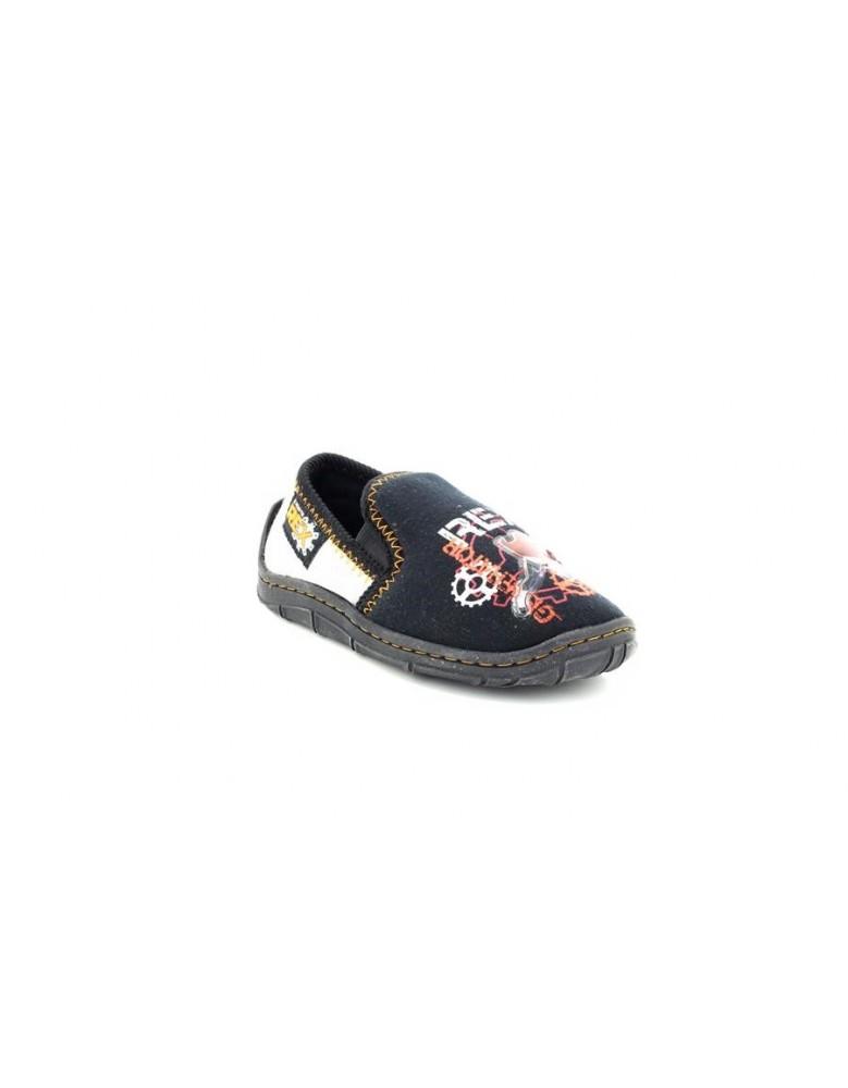 Zedzzz BS485 Boys Navy GOAL Football Indoor Slippers