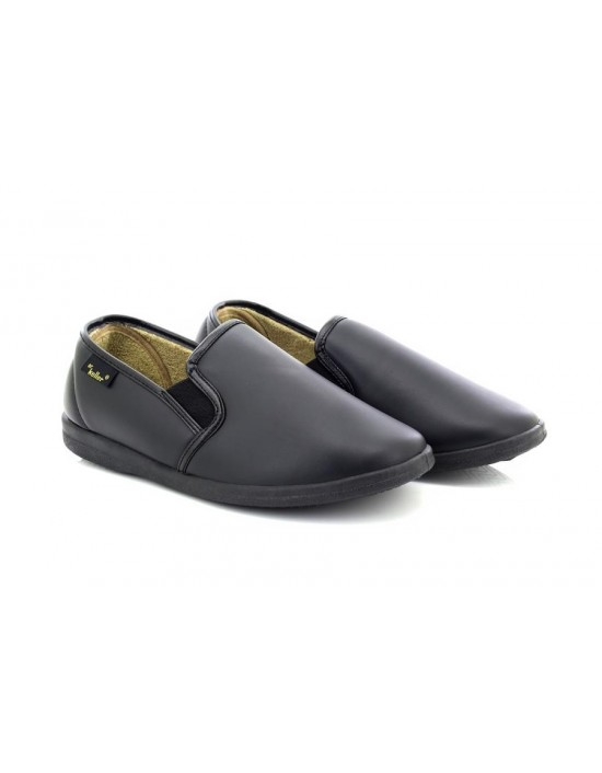 Dr Keller Christof Full Vinyl Leather Look Indoor Slippers