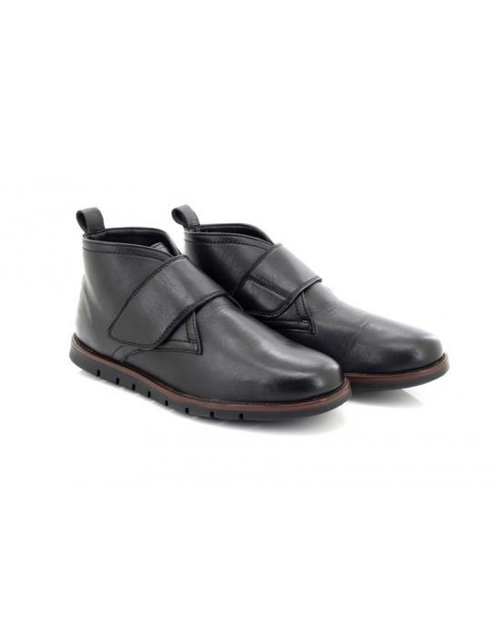 Mens Dr Keller Arthur Black Upper Leather Touch Fastening Padded Ankle Boots