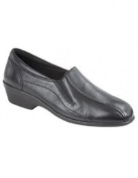 Mod Comfys L872 Twin Gusset Wedge Leather Slip On Flexi Shoes
