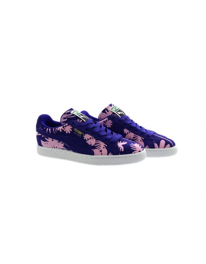 Puma Purple Suede Classic Tropicalia Trainers Sneakers-356056-02