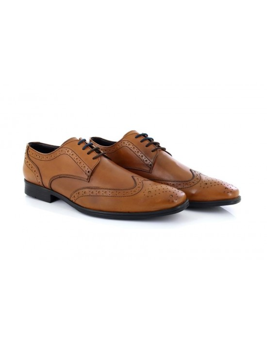 Route21 Elvis M948 Leather Brogue Gibson Classic Lace Up Formal Shoes