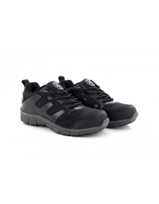 Groundwork Black Grey Ultra Lightweight Steel Toe Cap Safety Trainers Shoes