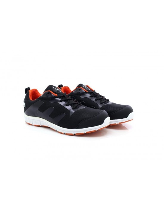 Groundwork Black Orange Ultra Lightweight Steel Toe Cap Safety Trainers Shoes