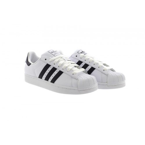 f7d004a403b6 Mens White Adidas SUPERSTAR ORIGINALS Trainers Sneakers Black 3 Stripes  G17068