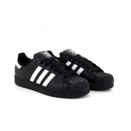 Mens Black Adidas SUPERSTAR ORIGINALS formateurs baskets blanc rayure G17070