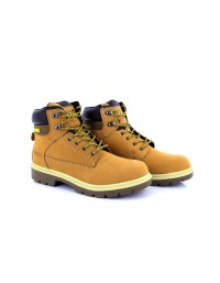 Worksite Timbo Style Leather Safety Steel Toe Workboots Mens Womens Honey