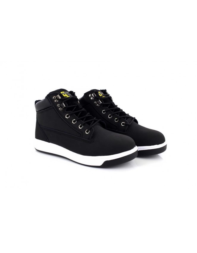 Unisex Grafters Black Sports Type Safety Toe Cap Trainer Boots