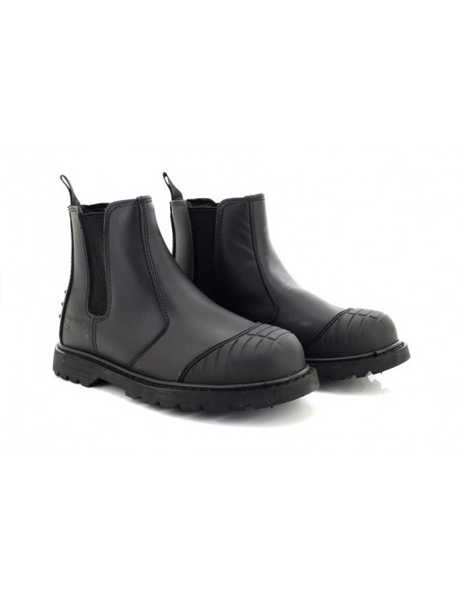 Unisex Grafters DEFENDER Leather Industrial Safety Dealer Boots