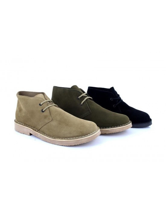 Roamers M400 Fashion Round Toe Suede Leather Lace-Up Desert Boots