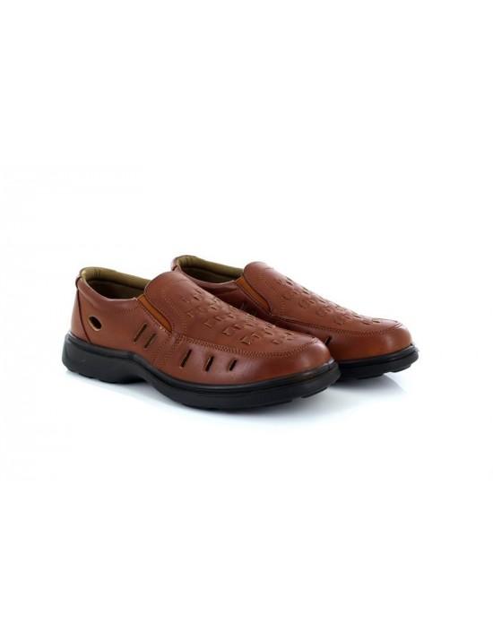 Dr Keller Braddock Mens Slip On Wide Woven Loafers Brown