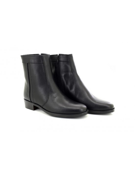 Scimitar M351 Plain Welt Fashion Leather Side Zip Ankle Boots Mid Heel