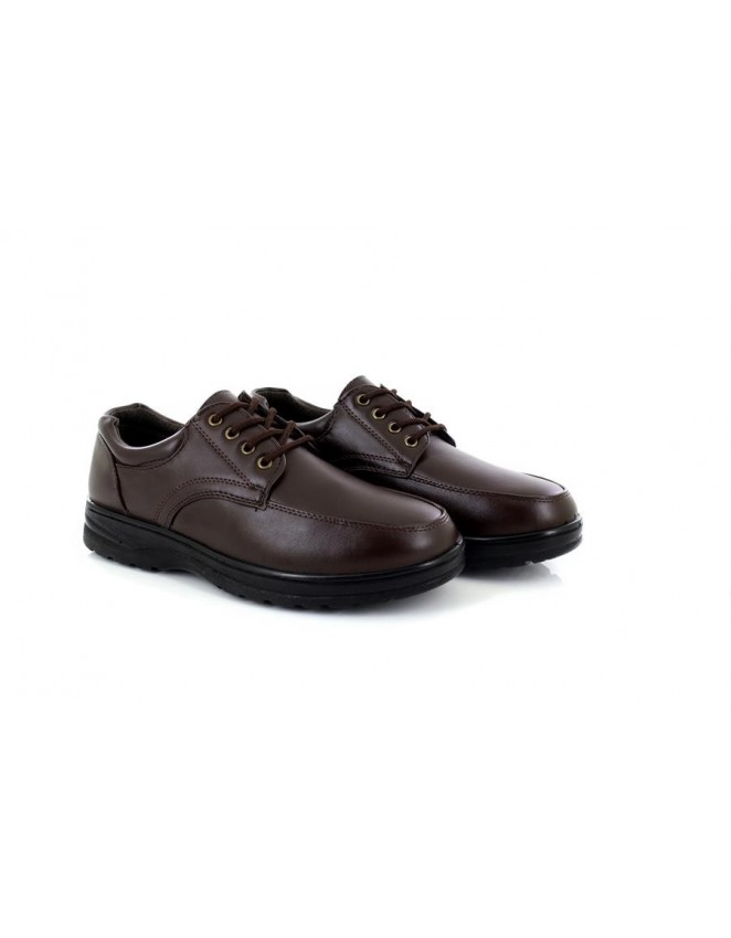 Mens Dr Lightfoot Brown Lace Up Comfort