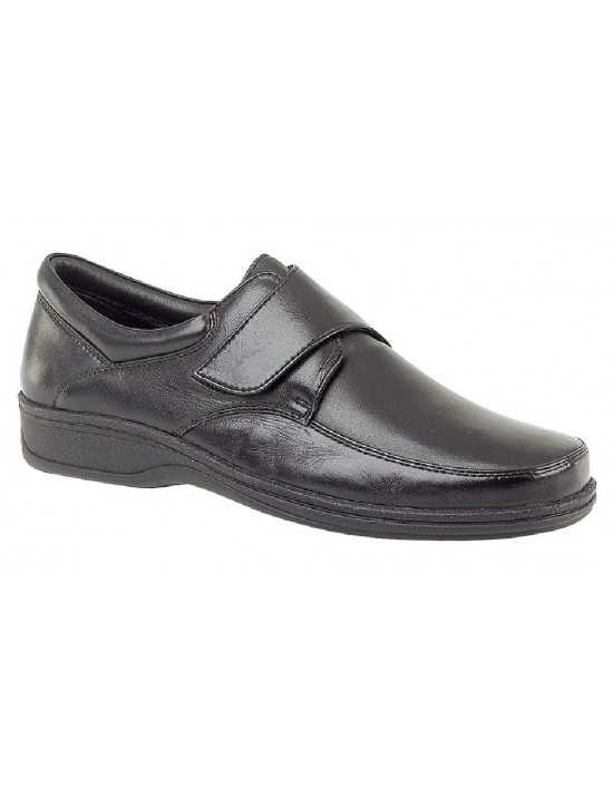 Roamers M723 Mens Leather Touch Fastening Shoes