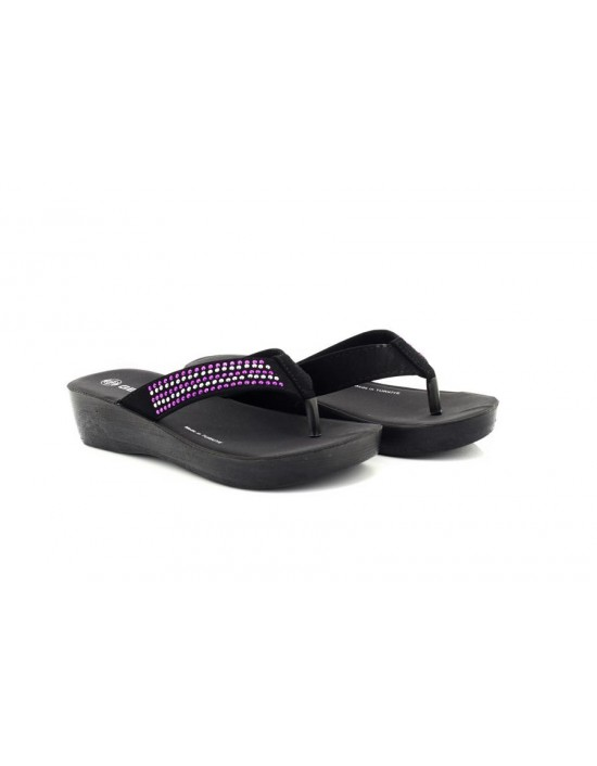 Gezer Naomi Womens Lightweight Diamante Summer Toe Post Mule Sandals