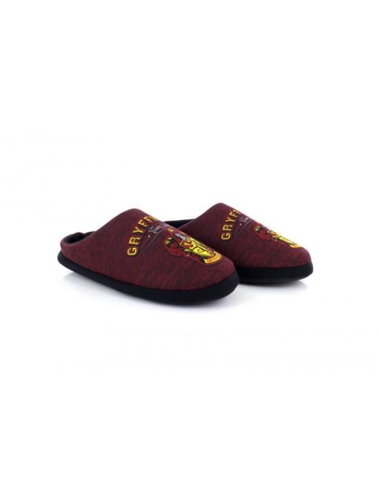 Original Licensed Harry Potter 'Baranec' Mens Burgundy Gryffindor Novelty Slip On Slippers