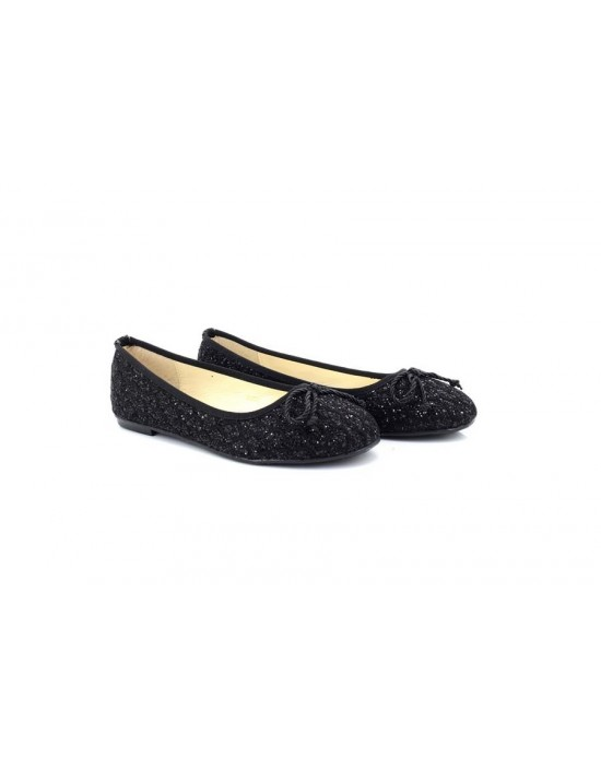 ShuCentre Diamante Dolly Glitter Flat Party Ever Shoes