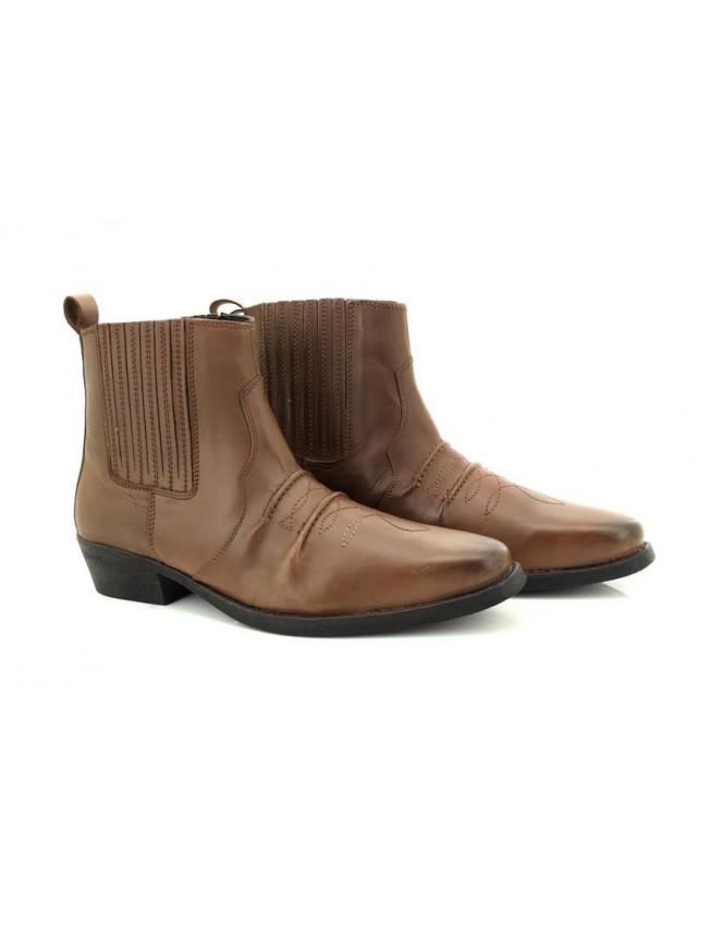 9d709344d5e Gringos M841 Western Biker American Style Genuine Leather Cowboy Boots