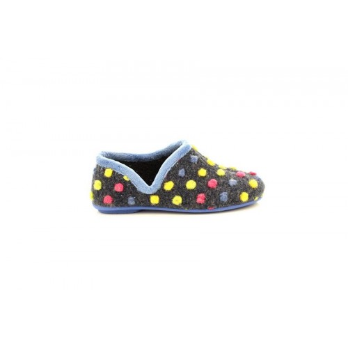 Sleepers JADE Dotted Full Slipper High Quality Fuchsia//Multi Knitted Textile