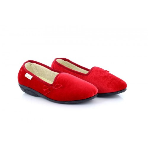 Ladies Dr Keller Madge Red Cushioned Vibrant Full Slippers