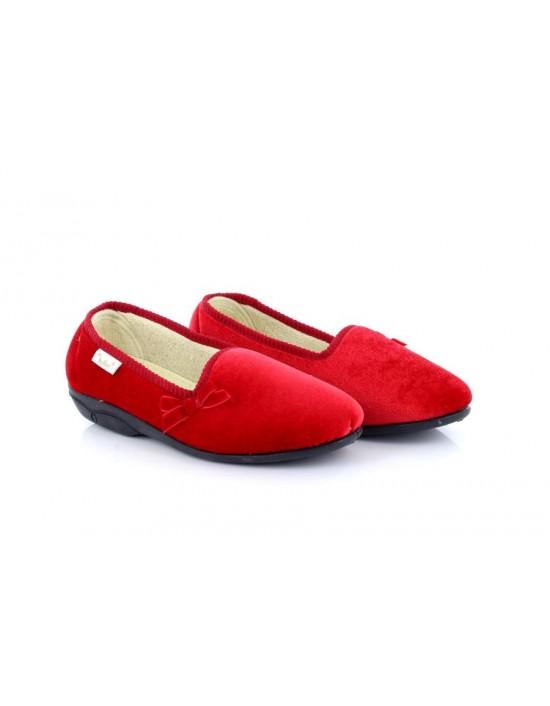 Dr Keller Madge Red Cushioned Vibrant Full Slippers
