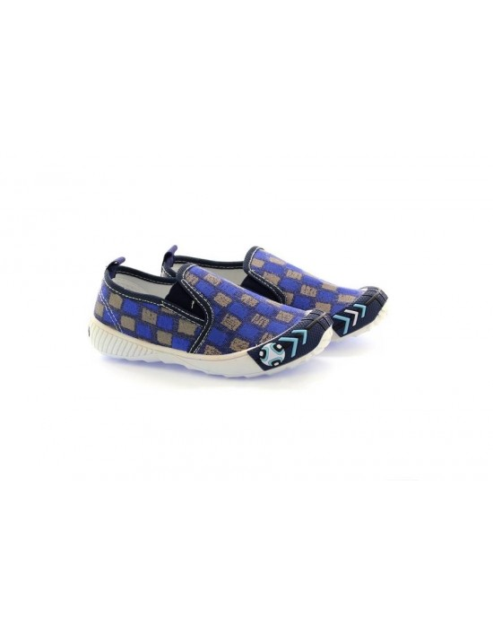 Dek Squares Boys Slip On Summer Canvas