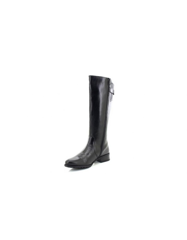 55a58681fb6 Womens Black Comfort Plus CAITLYN Soft Leather Formal High Boots UK 3