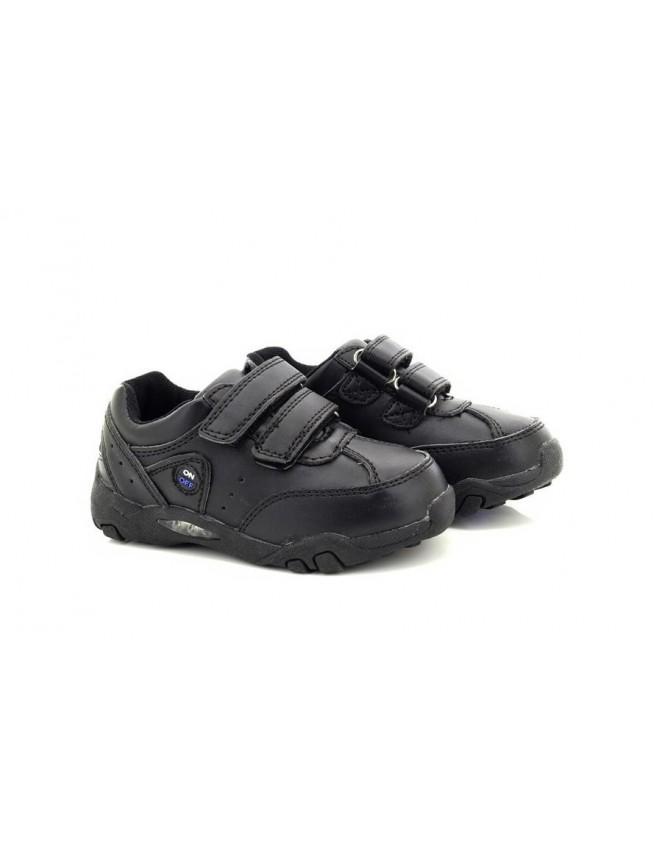 5d88eb2105d1 Traffic Boys Trainer Style Led Light Up School Shoes Black UK9