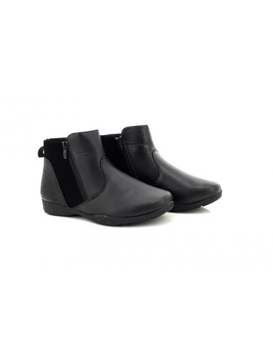 Ladies Dr Keller SHELBY Black Twin Zip Comfort Ankle Boots