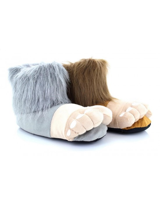 NEW Large Bigfoot Funny Warm Novelty Slippers Size 3 to 12 UK GREAT GIFT