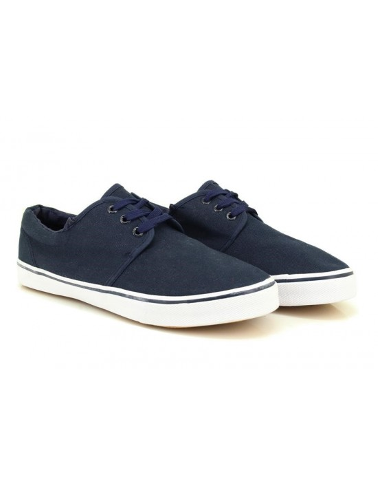 Dek Trevor Lace Up Deck Yachting Chunky Sole Original Textile Canvas Shoes
