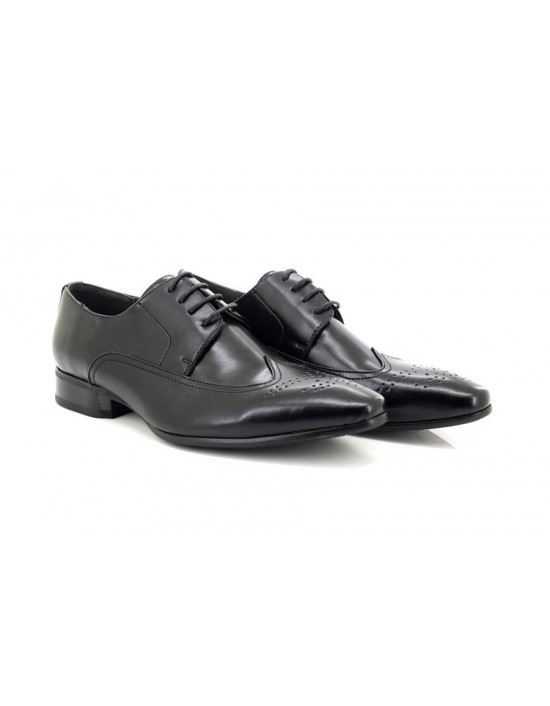 Mens Black Formal Lace-Up Brogue Shoes