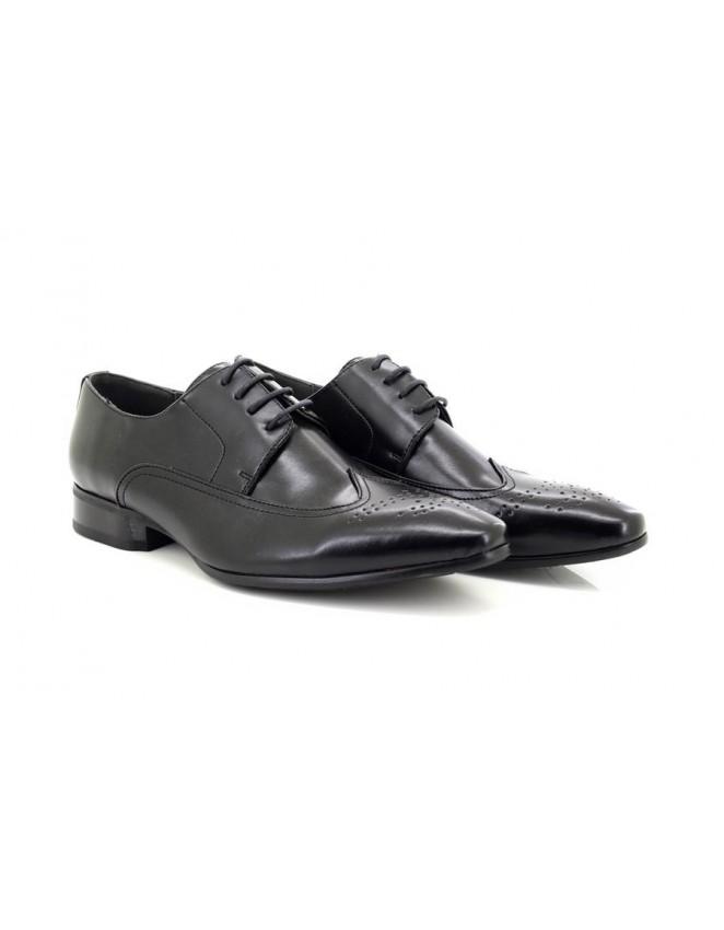 black formal brogue shoes