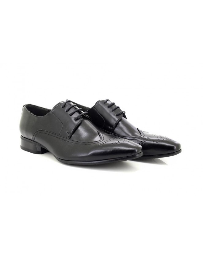 Mens Black Formal Lace-Up Brogue Shoes