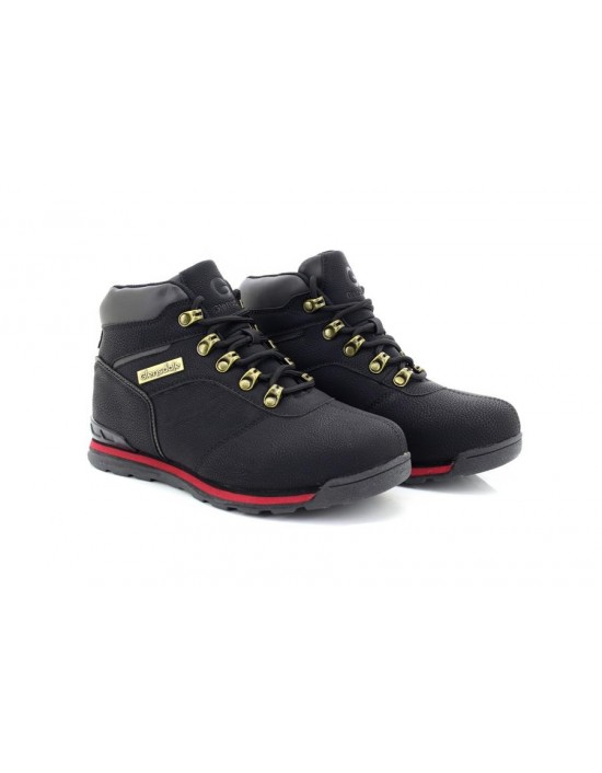 Glensdale Boys K7881 Synthetic Leather Black Walking Hiking Boots