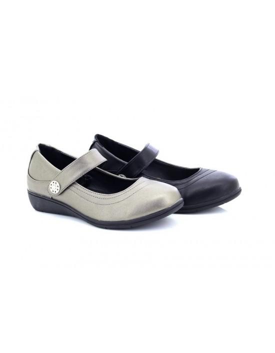 Boulevard Lisa L9526 Elasticated Jewelled Halter Back Summer Sandals Pewter PU