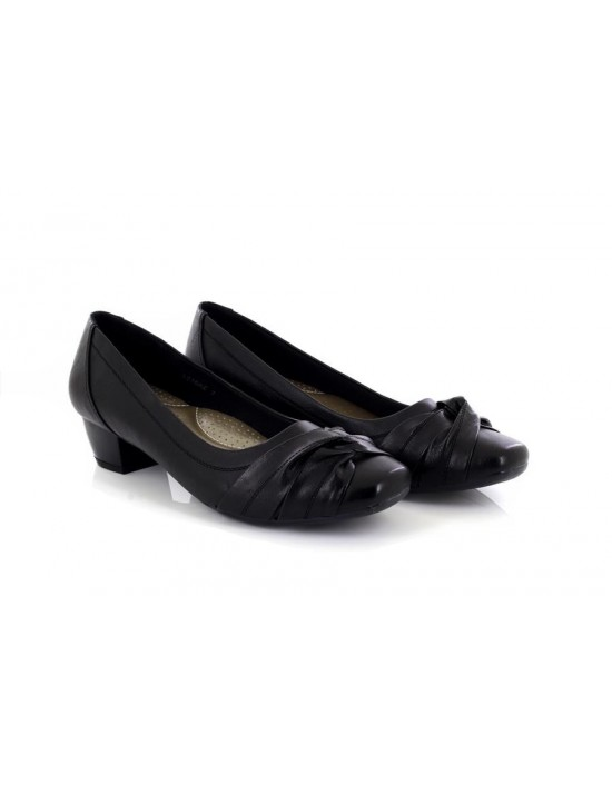 Boulevard L16 Helen Ladies Crossover Sash Low Heel Court Shoes