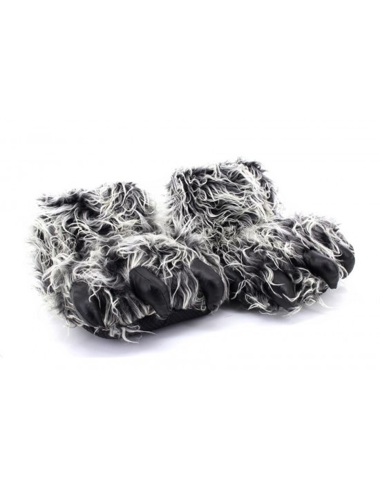 NEW Unisex Novelty Monster Claw Animal Slippers Black/Grey
