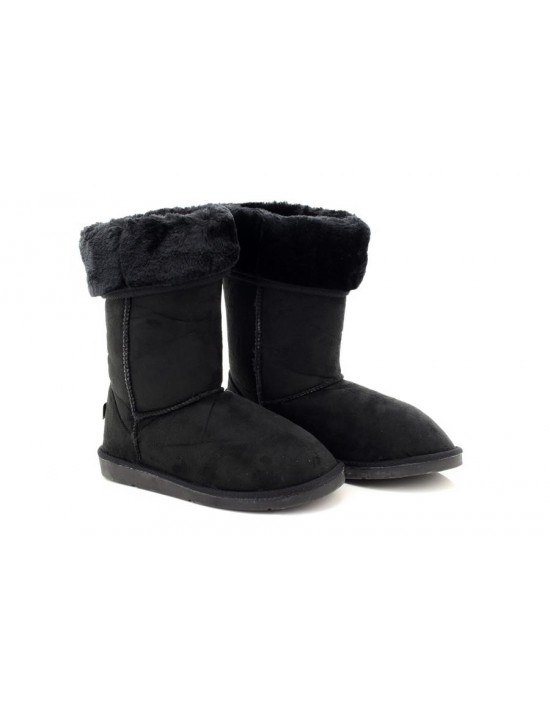 Ladies Black Winter Warm Fur Casual Snow Comfy Fashion Boots