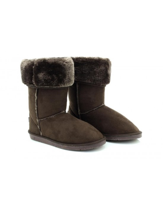 Ladies Dark Brown Winter Warm Fur Casual Snow Comfy Fashion Boots
