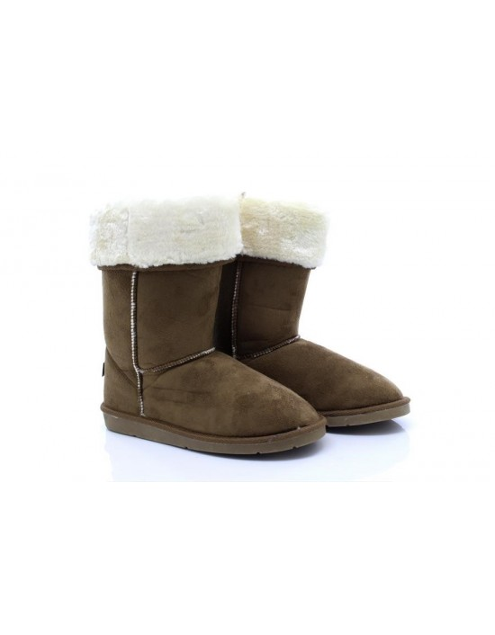Ladies Chestnut Winter Warm Fur Casual Snow Comfy Fashion Boots