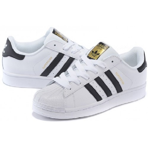 Details about Mens Adidas Superstar White Black FOUNDATION Trainers Shoes