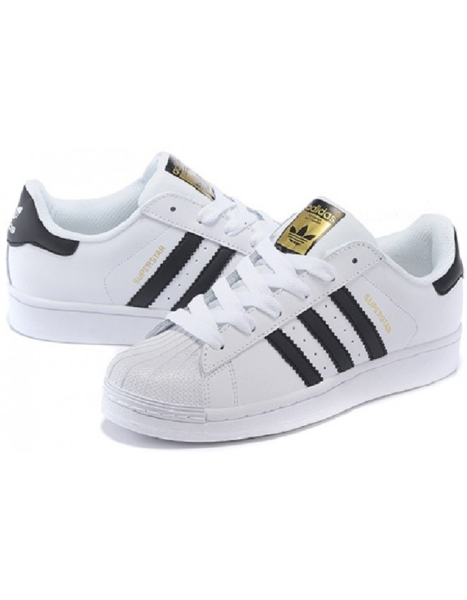 80cb31273 Adidas Superstar Unisex Mens   Womens WHITE BLACK FOUNDATION Trainers